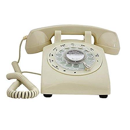 WYJW Teléfono de Mesa giratoria Vintage, dial Giratorio Teléfono ...