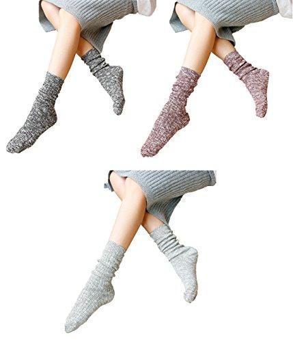 Zando Girl Women Soft Winter Colorful Dots Pattern Middle Lady Dress Socks Tight H 3 (Halloween 3 Blu Ray Australia)