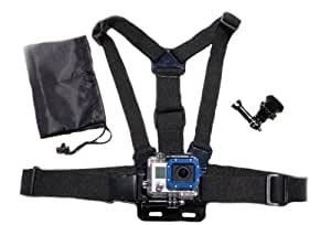 The Accessory Pro Chest Mount Harness w/ J Hook Mount and Carry Bag - compatible with all GoPro cameras