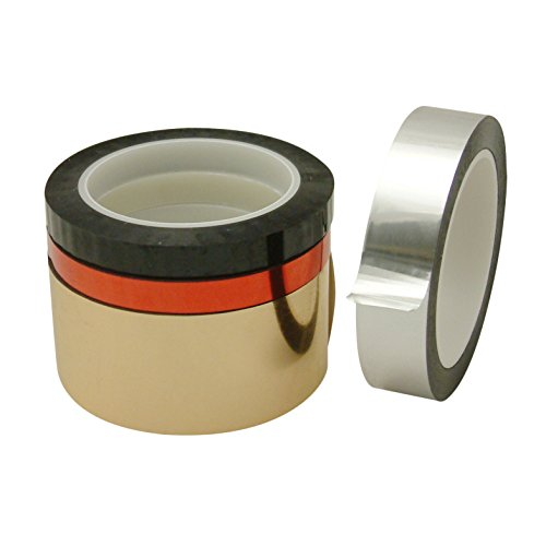 - JVCC MPF-01 Metalized Polyester Film Tape: 1/4 in. x 72 yds. (Red)