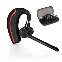 AudioMe Bluetooth Headset, Wireless Bluetooth 4.1 In Ear Earpiece Earphones Headphones with Noise Reduction, Hands Free w/Mic for Office/Business/Workout/Driver/Trucker