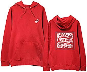Straykids I am WHO thin hooded pullover Sweatershirt for men women