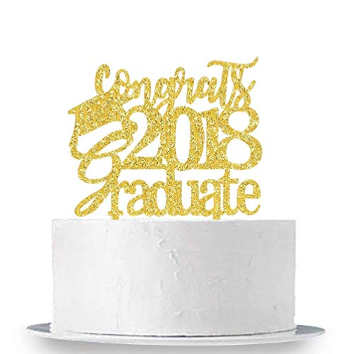 KISKISTONITE Congrats 2018 Graduate Cake Topper - Class of 2018 Grad Party Decoration Supplies - High School Graduation, College Graduate Cake Topper Special Event by kiskistonite (Image #4)