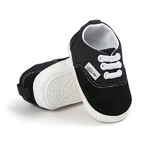 (RVROVIC Baby Boys Girls Shoes Canvas Toddler Sneakers Anti-Slip Infant First Walkers 12Color (12cm (6-12months),)