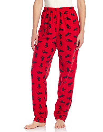 Leveret Womens Pajamas Pants Fleece Lounge Sleep Pj Bottoms (Moose, Small) -