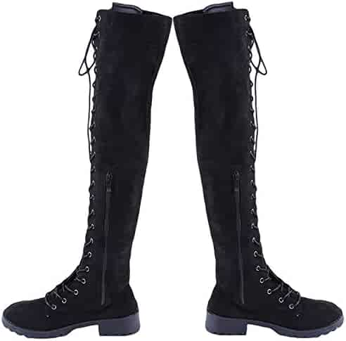 d4cf70e6cd6ff Shopping 10.5 - Combat - Over-the-Knee - Boots - Shoes - Women ...