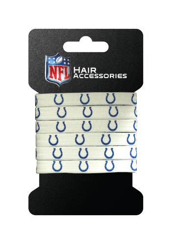 NFL Indianapolis Colts Hair Accessory 6-Elastic Ponytail - Outlets Indianapolis