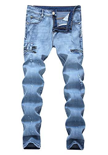 Versaces Cintura Media Corte Color Recto Alta Jeans Ajustado 1 Hombres Imprimir Bomba Pequeño Pantalones a0wra6