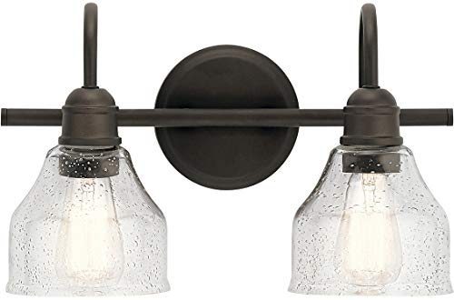 - Kichler 45972OZ Avery Vanity, 2-Light 150 Total Watts, Olde Bronze