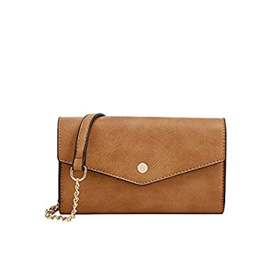 Lily Jane Women's Clutch Crossbody Wallet with Chain Strap