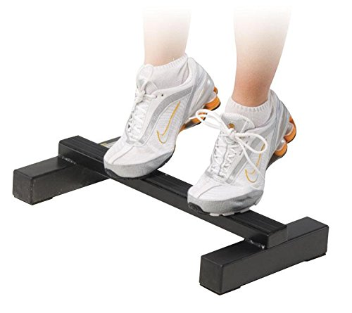 Power Systems Calf Raiz, Steel Bar for Standing Calf Raises and Dip Exercises, Black (67055)