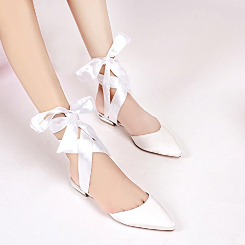 Women Wedding Fall Toe Elobaby Closed Evening amp; Composition Satin Spring Shoes Platform OnqndFa