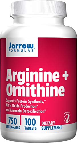 Jarrow Formulas Arginine and Ornithine, Sports Nutrition, 750 mg, 100 Easy-Solv Tabs