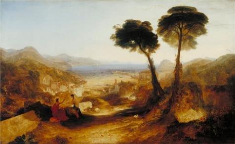 Oil painting ` Joseph Mallord William Turner–The Bay of Baiae  with Apollo and the Sibyl、1823`印刷on Perfect effectキャンバス、12x 20インチ/ 30x 50cm、BF、最高のギフトGFとホームギャラリーアートとギフトがこの鮮やかアート装飾キャンバスプリントの商品画像
