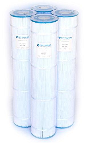 Optimum Pool Technologies Pool Filter 4-Pack, Replaces Jandy CL580 R0357900, Unicel C-7482, Filbur FC-0820, Pleatco PJAN145 Filter Cartridges ()