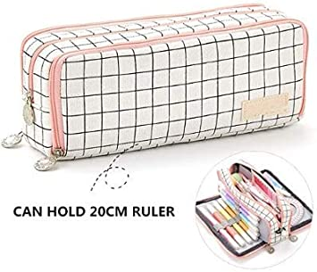 QIANER N-CT 127 Yuta Pencil Case Large Capacity Pen Case Office Stationery Bag for Girls Boys and Adults