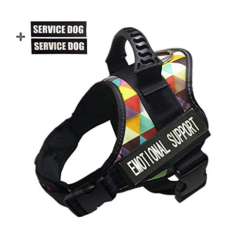 - GOLDBELL Dog Vest Harness for Service Dogs, Soft Mesh Lining Padded Dog Training Vest with Reflective Patches for Small Medium to Large Dogs (Small:Neck 16-20 inch;Chest 20-25 inch, Color Plaid)