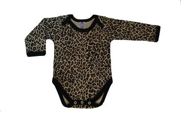 the best attitude 025d1 8472f BabywearUK Schlupfkragen Body Weste LANGE Ärmel mit Leopardenmuster -  Neugeborene (British made)
