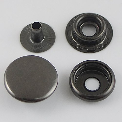 Snap Fastener Buttons 15mm (Black) - 2