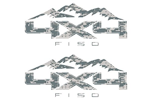 (Digital Camouflage 4X4 Off Road Mountain Bedside Vinyl Decal Fits Ford F150 Trucks )