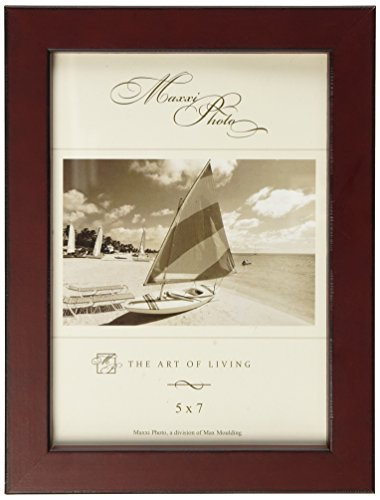 Maxxi Designs Photo Frame with Easel Back, 4 x 6, Burgundy St. Tropez