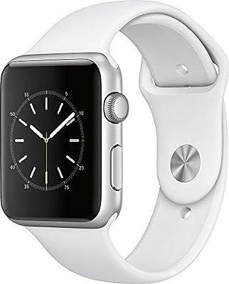 Apple Watch Series 1 42mm Smartwatch (Silver Aluminum Case, White Sport Band)