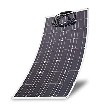 100 Watts Monocrystalline Solar Panel Lightweight Flexible Charger for Boat Car Power Supply 100W