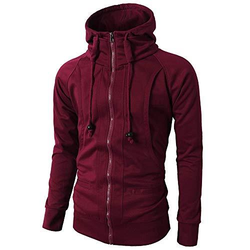 e68efafe45992 MODOQO Men s Zipper Hoodie Long Sleeve Pullover Jacket Coat for Autumn  Winter