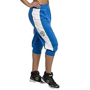 Zumba Women's Italy Jersey Capri Pants Blue Size S