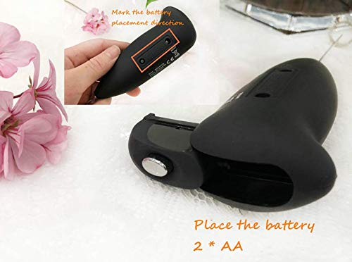 LYH Milk Frother High Powered Mini Foamer Handheld Foam Maker Whisk Drink Mixer for Bulletproof Coffee, Black