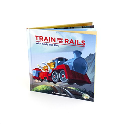 Toy Train Book 'Off The Rails with Kody & Dot' by Green Toys