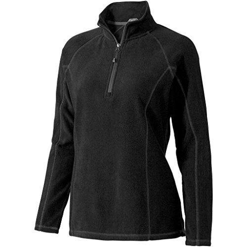 Elevate Womens/Ladies Bowlen Quarter Zip Polyfleece (XL) (Solid Black)