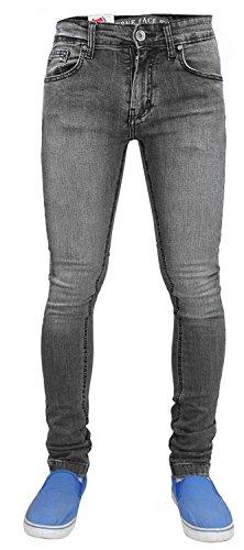 ajustado Face Pantalón hombre para TF021 True Wash elástico Grey Owqwa5z