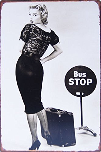 Pish Posh Llc Vintage Tin Sign Decor, Marilyn Monroe in Bus Stop 1956
