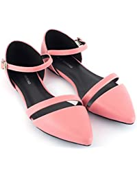 Mio Marino D'Orsay Pointed Toe Flats - Womens Ankle Strap Dress Shoes - Quick Release Buckle