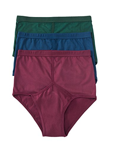 Mens High Rise Briefs - 3 Pack Assorted Large ()
