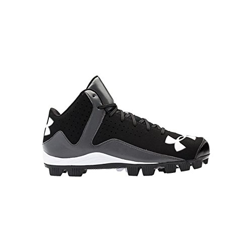 Men's Under Armour Leadoff Mid RM Baseball Cleats Black/Charcoal Size 6.5 M US