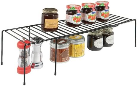 Amazon.com   Rubbermaid Expand Wire Shelf, Large (FG1J2700BLA)   Cabinet  Organizers