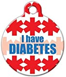 I Have Diabetes - Custom Pet ID Tag for Dogs and Cats - Dog Tag Art