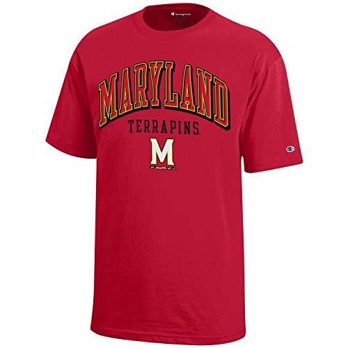 NCAA Champion Boy's Short Sleeve Jersey T-Shirt Maryland Terrapins Large