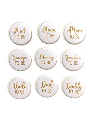 1 pc Mom Dad Mommy Daddy Aunt Uncle Grandma Grandpa Nana Papa TO BE Baby Shower Gift Favors badge pin 2.25
