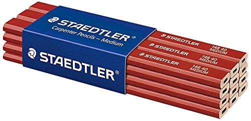 Staedtler - 12 lá pices para carpinteros, color rojo 148 40 VE