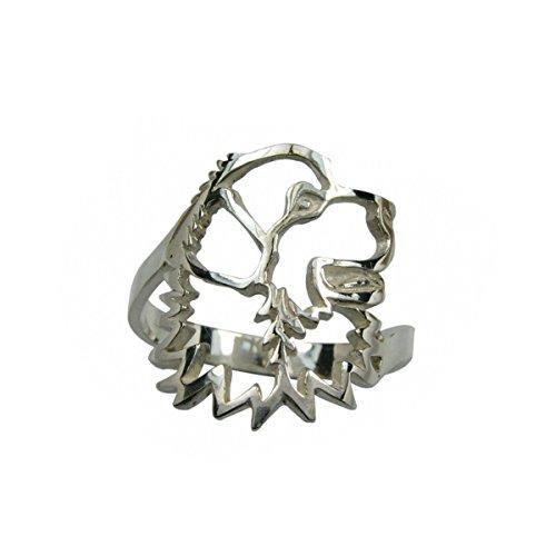 H&H jewellery Chien de montagne des Pyrnes bague d'argent rhodi - 55; Bigouterie d'argent - Bague (titre 925/1000)