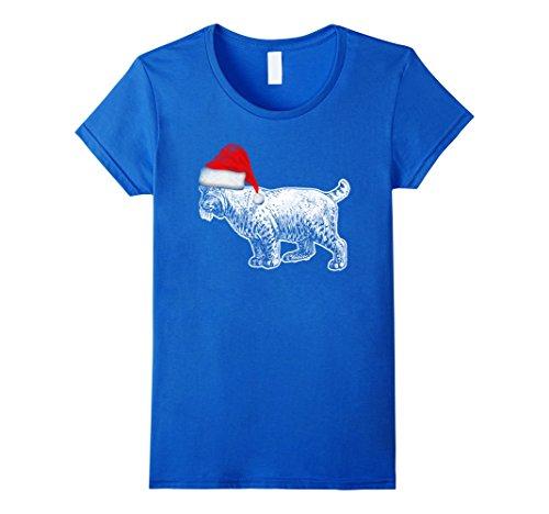Womens Santa Hat Bobcat Costume T-Shirt Christmas Cat Tee Gifts Medium Royal (Bobcat Costume)