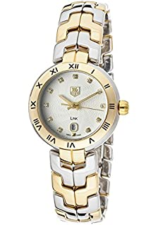 7bb7c1f4e830 Tag Heuer Women s Link Diamond Silver Textured Dial Stainless Steel ...