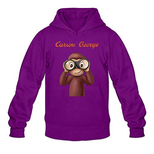 Chris-T Curious George Men's Long Sleeve T Shirts Purple US Size L]()