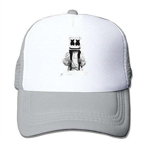 Nquqiyilu Mens Marshmello Alone Casual Classic Football Ash Mesh Caps Hats Adjustable Snapback