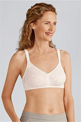 Amoena Women's Ina Wirefree Pocketed Bra, Off White, 48AA