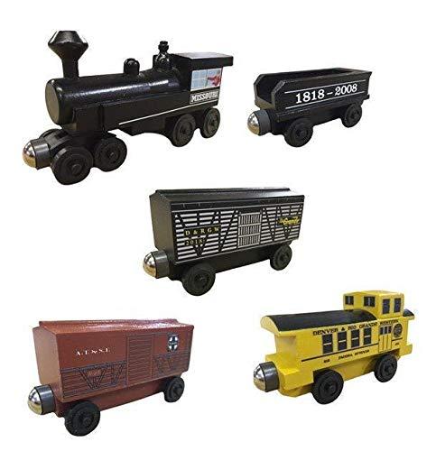 - Missouri Steam Engine Cattle Train 5pc. Set - Wooden Toy Train by Whittle Shortline Railroad