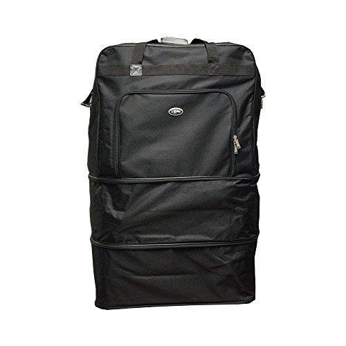 Hercules Luggage Black Heavy Duty Polyester 40-inch Wheeled Bag